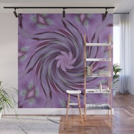 Abstracted Twirl Pink Hydrangea Flowers Wall Mural
