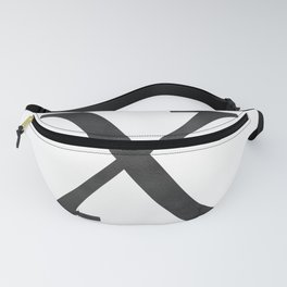 Letter X Initial Monogram Black and White Fanny Pack