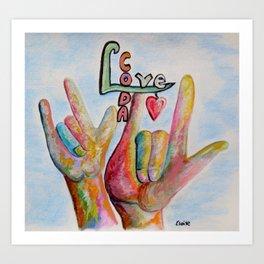 CODA - Children of Deaf Adults Art Print