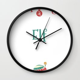 Funny Xmas Expecting Little Elf Pregnancy Wall Clock