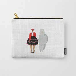 Peruvian Girl and Friend Carry-All Pouch