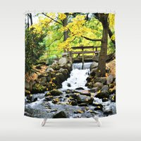 waterfall Shower Curtains featuring Waterfall by Juliana RW