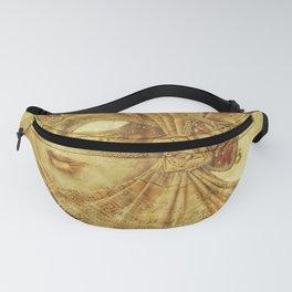 Golden Venetian mask Fanny Pack