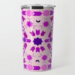 Purple Arabesque Travel Mug