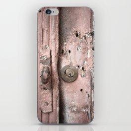 Pink Rusty Door iPhone Skin