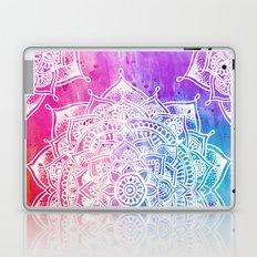 White Mandala on Watercolour Laptop & iPad Skin