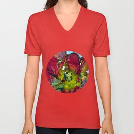 Still life with Red Tulips Unisex V-Neck