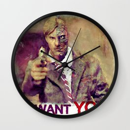 Uncle Two Face wants you!! Wall Clock