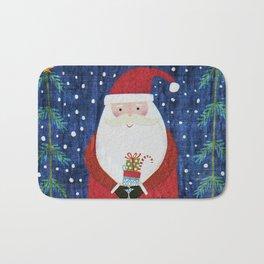 Santa with Stocking Bath Mat