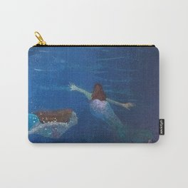 Carefree Mermaids Swimming Under the Sea Carry-All Pouch