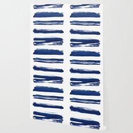 Indigo Brush Strokes | No. 2 Wallpaper
