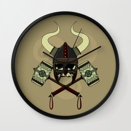Viking skull Wall Clock