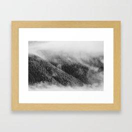 Austrian mountain view Framed Art Print