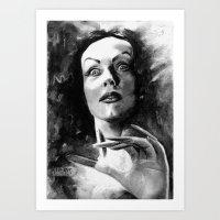 Plan 9 From Outer Space (Vampira) Art Print
