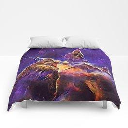 ALTERED Hubble Mystic Mountain- Carina Nebula Comforters