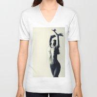 dancer V-neck T-shirts featuring Dancer by Falko Follert Art-FF77