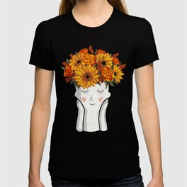 Sunflowers in my hair, don't care T-shirt