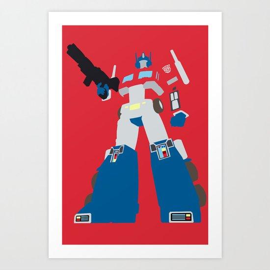 Transformers G1 - Optimus Prime Art Print