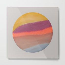 relaxing Water color purple pink sphere sun painting Metal Print