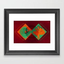 Online dating Framed Art Print