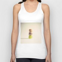 macaroons Tank Tops featuring Macaroons  by Caroline Mint
