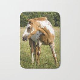 Orange Appaloosa horse Bath Mat