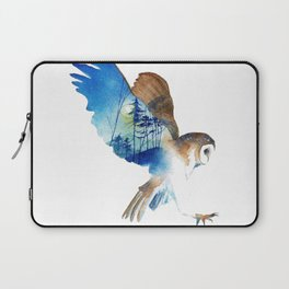Flying night cute owl Laptop Sleeve