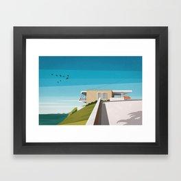 'Spencer House' (1955) Mid century house Framed Art Print