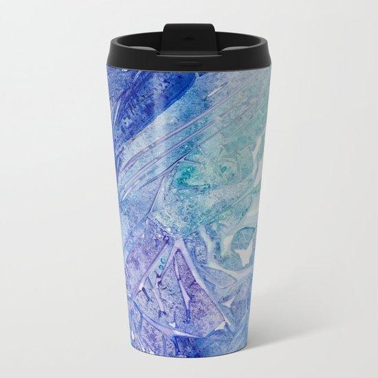 Water Scarab Fossil Under the Ocean, Environmental Metal Travel Mug