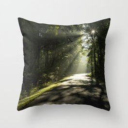 Forest Morning 2 Throw Pillow