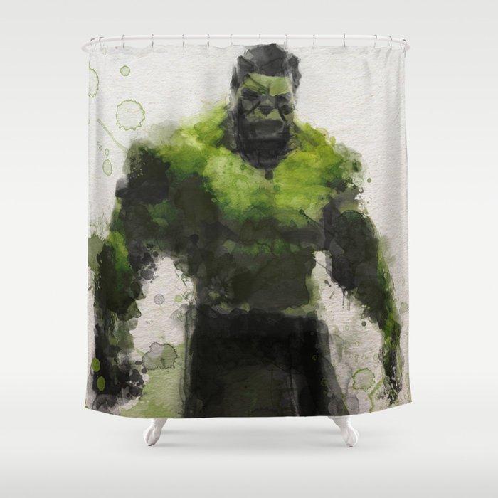 Water Colour Hulk Shower Curtain