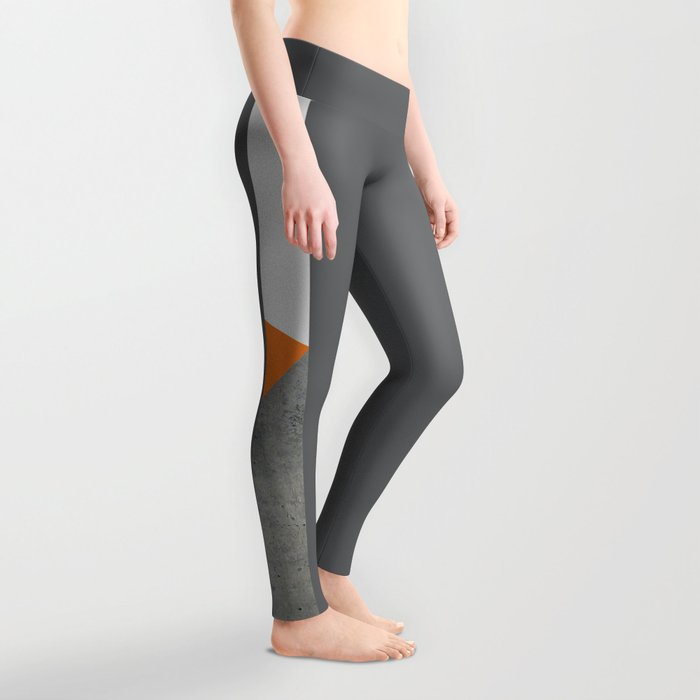Concrete Tangerine White Leggings