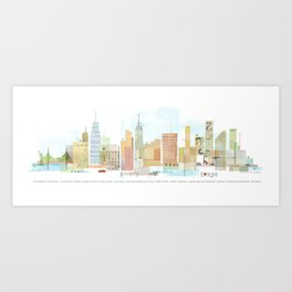 I love NYC Art Print