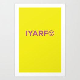 IYARFO Minimal Magenta Art Print