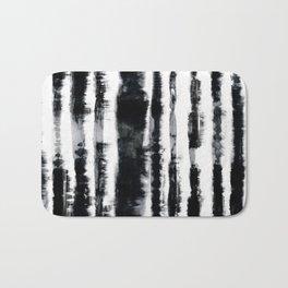 Tie-Dye Shibori Stripe BW Bath Mat