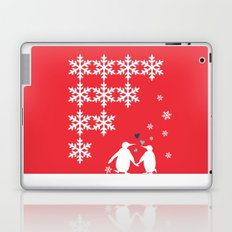 Penguin Couple Dancing on Snow Laptop & iPad Skin
