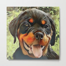 Chubby Rottweiler Puppy Metal Print