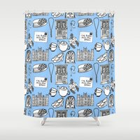 downton abbey Shower Curtains featuring Downton Abbey by Valerie Jauma