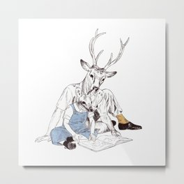 Bestial father and son Metal Print