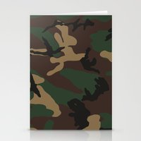 camo Stationery Cards featuring Camo by TheSmallCollective
