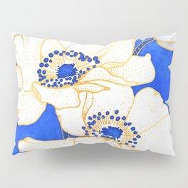 Ultramarine Blue :: Anemones Pillow Sham