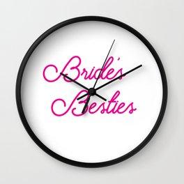 Bride's Besties - Wedding Bridesmaid Bachelorette Party Design Wall Clock