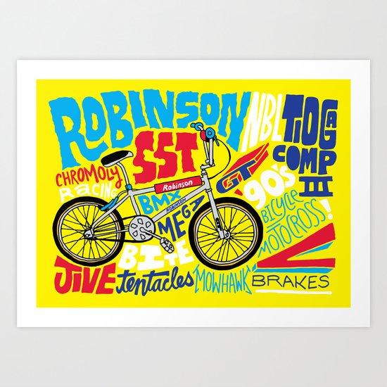 All My Bikes: 4, Robinson SST Art Print