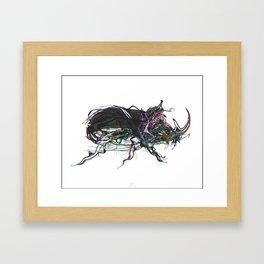 Beetle 1. Color & Black on white background Framed Art Print
