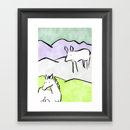 Ink animals Framed Art Print