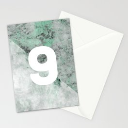 marble 9 Stationery Cards