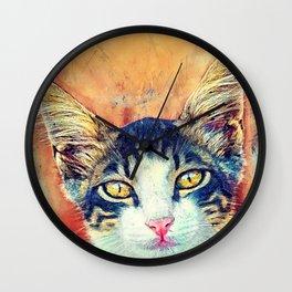 Cat Jacky art #cat #kitty Wall Clock