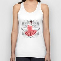 dress Tank Tops featuring Red Dress by Andrea Forgacs