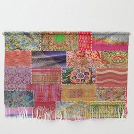 Boho Sari Patchwork Quilt Wall Hanging