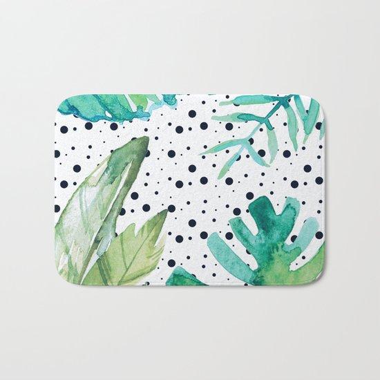 Botanic polka dots Bath Mat